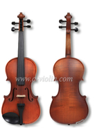 Flamed Maple Violin Fiddle with Case, Middle Grade Violin Outfit (VM110H)