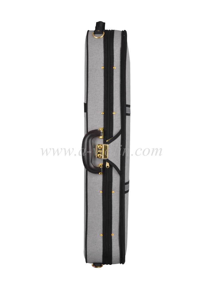 4/4 deluxe foamed oblong shape violin light case (CSV527AB1)
