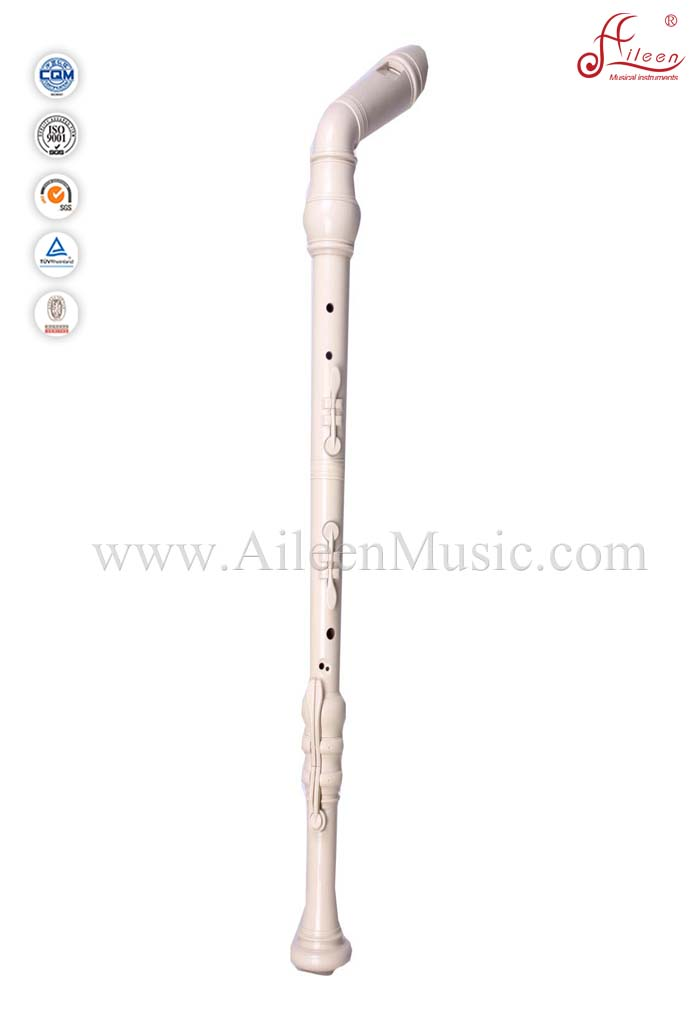 Ivory Plastic Baroque Bass Recorder Flute (RE2658B)