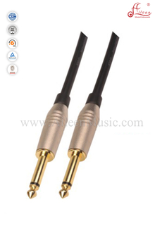 Black 6mm PVC Spiral Guitar Instrument Cable (AL-G021)