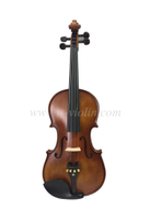 Solid spruce top general grade student violin with lightweight shaped case (VG102E)