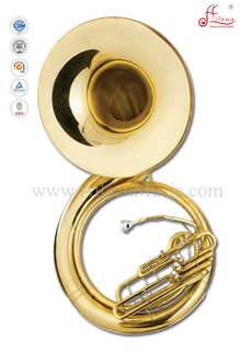 3 Valves Gold Lacquer Bb Key Sousaphone (SS9900)