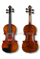 Fiddle With Case, Conservatory Violin Outfit (VM145M)