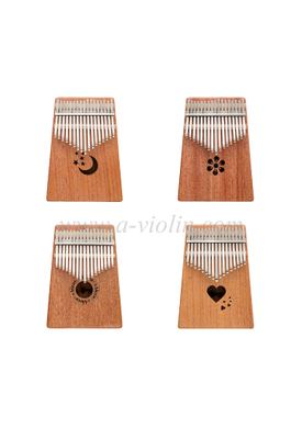 Thumb Piano 17 Keys Kalimba with Bag, Tune Hammer, Tune Sticker and Manual (KLB07-17)