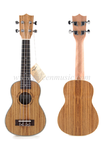Hot Sell All Zebrawood Plywood with Aquila Strings Ukulele (AU30L)