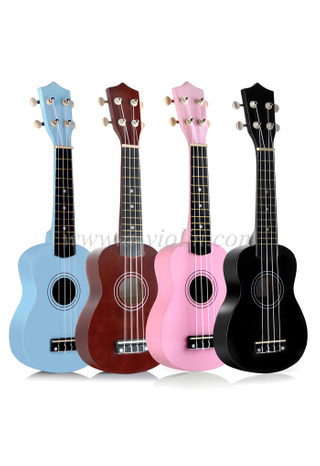 Dyed hardwood fingerboard andbridge children ukulele(AU01L)