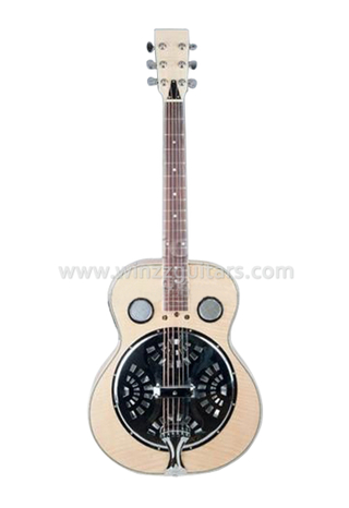 Round Neck Electric Resonator Dobro Guitar With 4 Band EQ (RGS98)