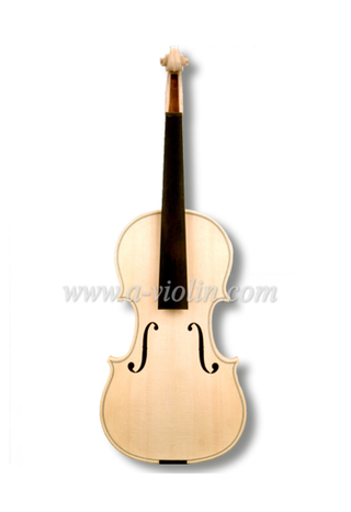 Unvarnished white unfinished violin (V30W)