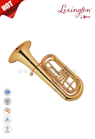 Brass Lacquer Bb Key Piston Tuba (TU9932G)