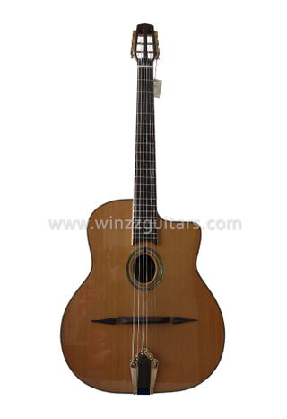 D hole or Oval Hole Solid Cedar Top Gypsy Jazz Guitar (AGJ60)