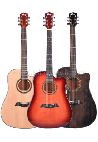 New High quality glossy solid top acoustic guitar (AFM17C-D)