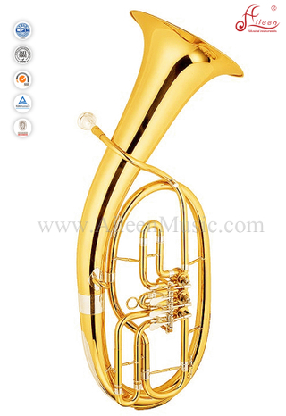 3 Valves Gold Lacquer Bb Key Baritone Wagner Horn (BR9802G)