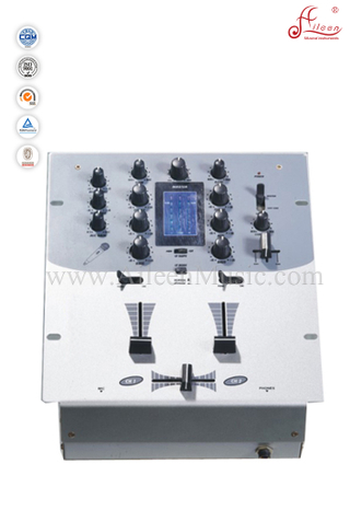 Professional Crossfader Headphone Output LED DJ Mixing Console (ADM-502)