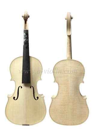 Unvarnished Flamed Maple White Viola (L150W)
