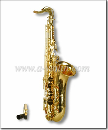 Gold Lacquer Bb Key Student Sax Tenor Saxophone Price (SP0011G)