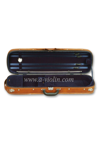 Oblong Shape Oxford Exterior Wood Violin Hard Case (CSV007)