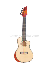 23 inch thin body with cutaway Beveled armrest ukulele (AU14C-BA)