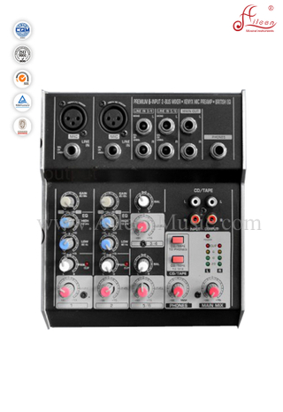 High Quality Professional Ultra Low Nosie 6 Channles Mixer Mixing Console (AMS-E602)