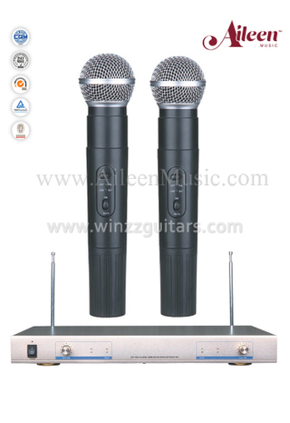 Wholesale Black FM Hanheld VHF Mic Wireless Microphone (AL-920VM)