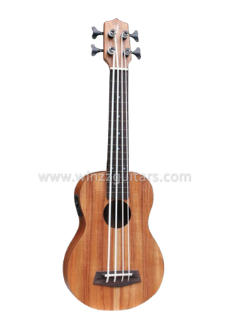 "20"" Scale Length Koa Plywood Ukulele Bass (AUB-40)"