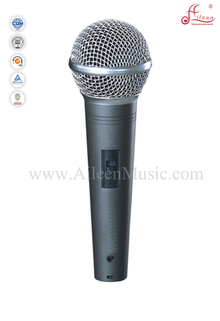 ( AL-S9.0E )Hot sale Uni-directivity Metal Moving-coil 4.5 Meter Cable Wired Microphone