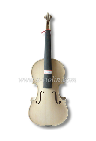 White Violin, Unfinished 4/4 Violin For violin maker luthier (V150W)