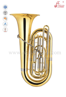 Bb Key Gold Lacquer 4 Valves Piston Tuba (TU9902)
