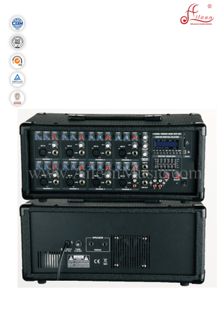 Musical Instrument 8 Channel Treble Bass XLR PA Mobile Power Amplifier (APM-0830BU)