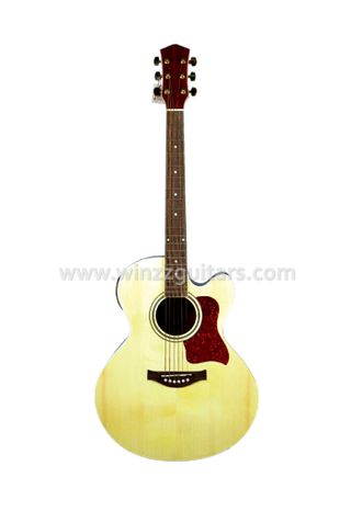 Mini Jumbo Cutaway Electric Acoustic Guitar With 4 band EQ (AF665CE)