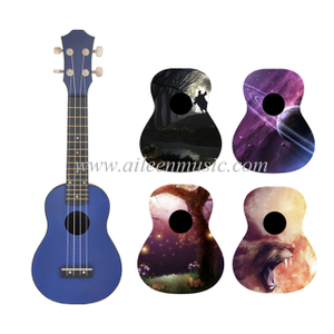 New Linden Plywood Top Plastic Student Ukulele(AU-P01)