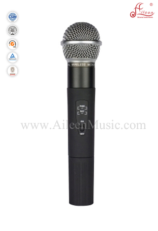 Professional FM Handheld UHF Fixed Dual Channel Wireless Microphone (AL-SE2018)