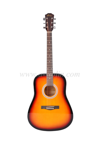 "41"" Musical Instrument Dreadnought Linden Plywood Maple Acoustic Guitar (AF229H)"