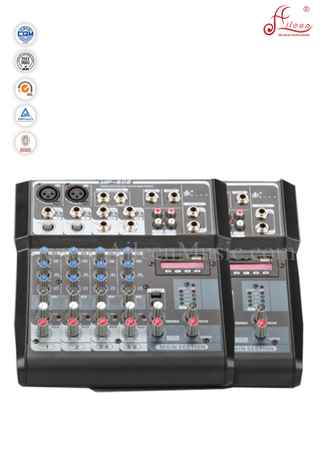 Professional 6 Cannles Mixer Digital Mixing Consoles (AMS-F602)