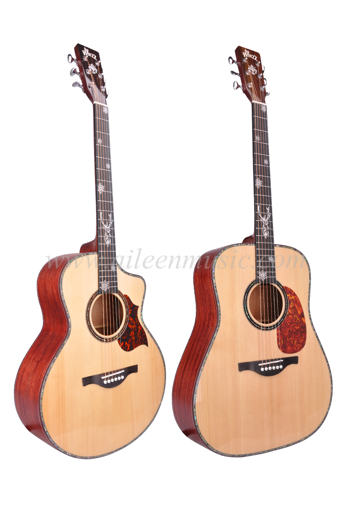 High Quality 40''/41'' AAA Solid Sitka Spruce Top Acoustic Guitar (AFH17SC)