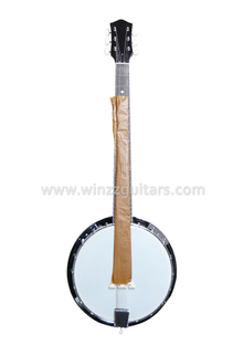 24 Bracket 6 Strings Sapele Plywood Resonator Banjo (ABO246)